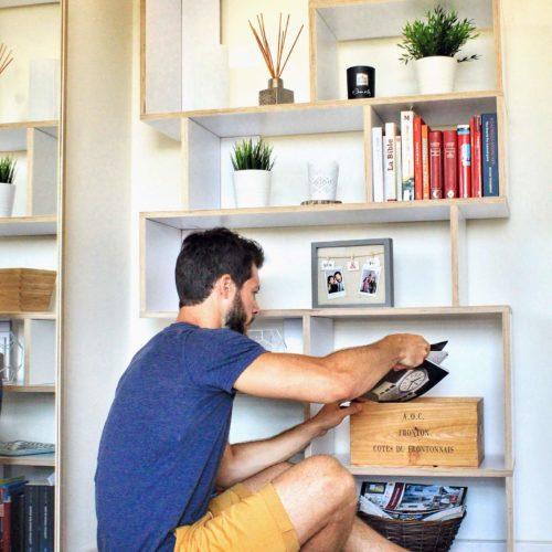 tylko bibliothèque meuble